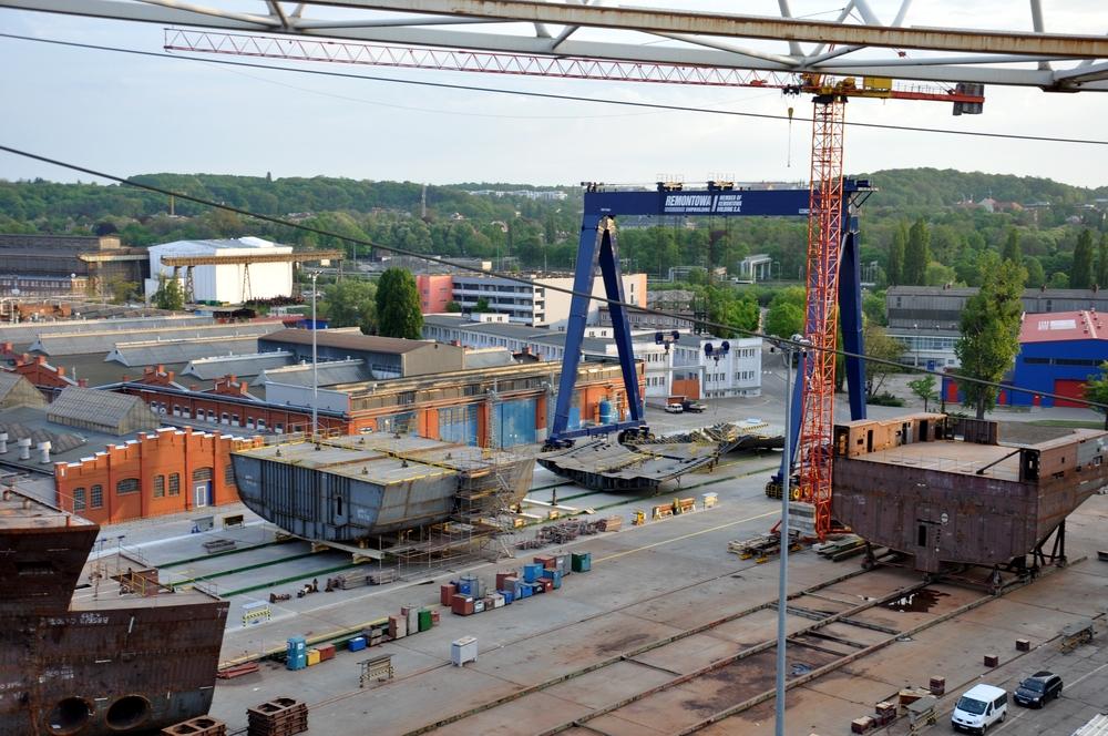 The new assembly line enhances the production capabilities of the shipyard.  Photo: Ireneusz Gradkowski