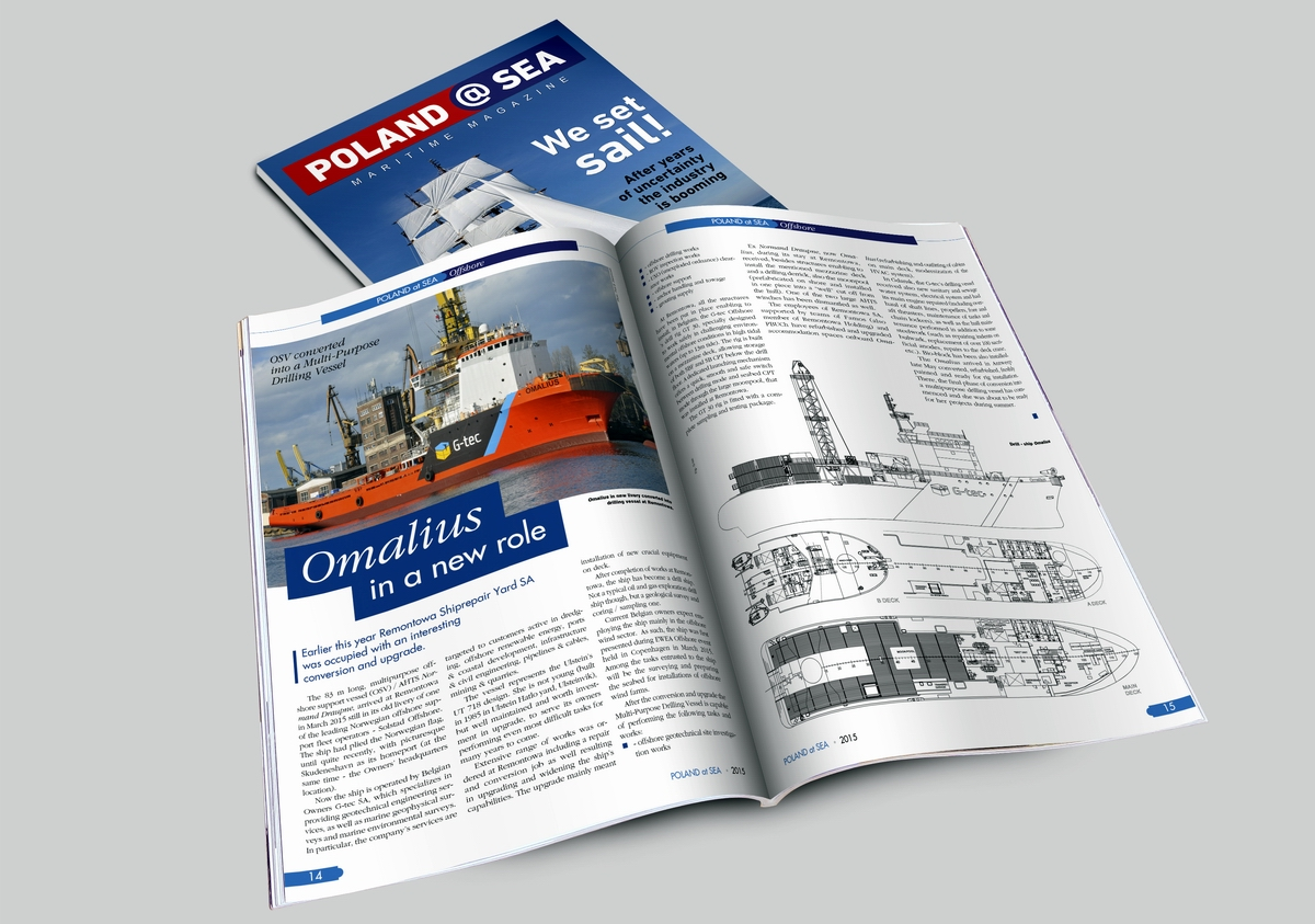 Poland@SEA magazine covers wide range of topics related to the maritime industries.