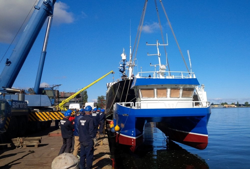 Poltramp Yard SA launches catamaran workboat for Norwegian owners