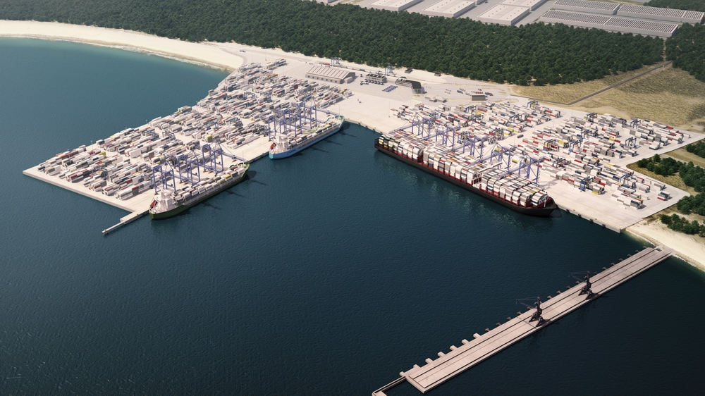 Construction of a new deepwater berth in DCT Gdansk in progress