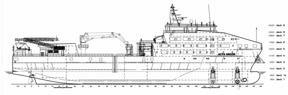 Partly outfitted hull of windfarm service vessel from Szczecin almost ready