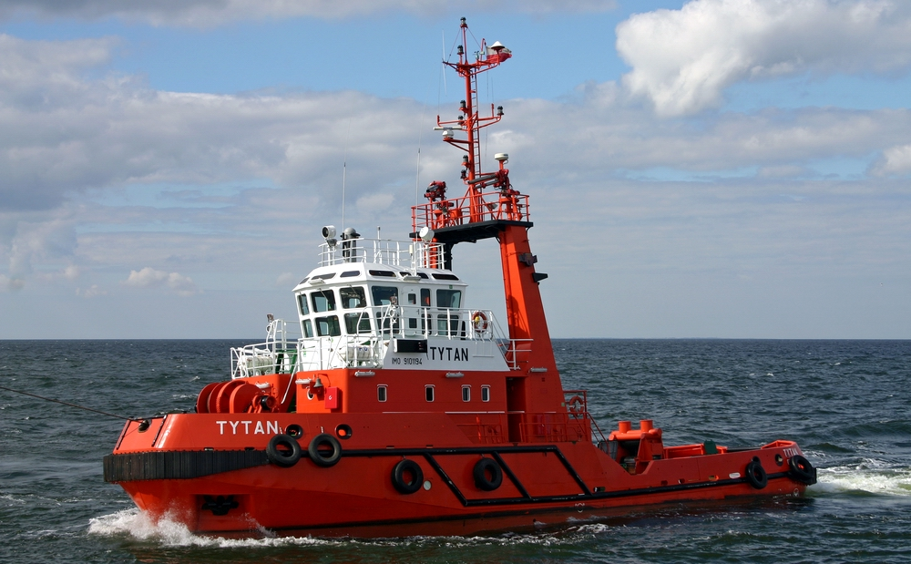 The Tytan tug has been among the vessels recently serviced at Naval Shipyard in Gdynia Photo.: Piotr B. Stareńczak
