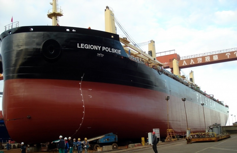 The Legiony Polskie bulk carrier was launched by the Yangzijiang Shipbuilding on December 8. 2015. Photo: Polsteam
