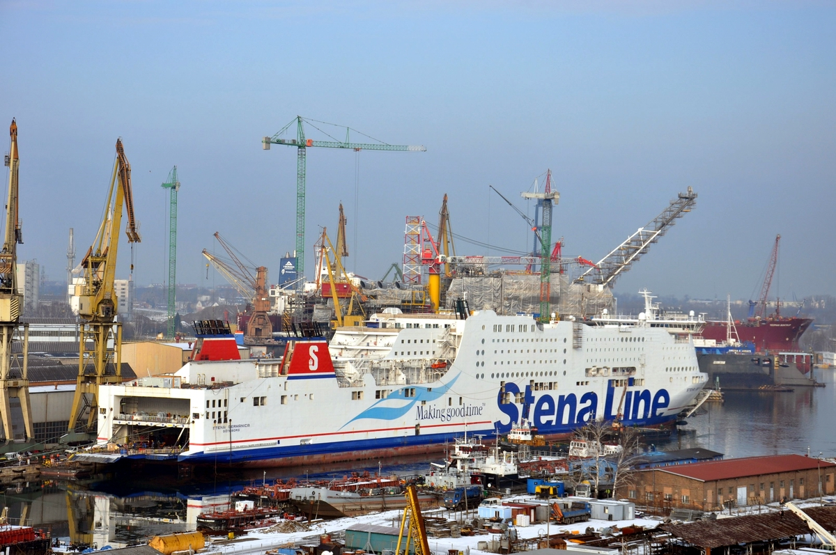 Stena Germanica during conversion in the landscape of Remontowa earlier in 2015. Photo: Jerzy Uklejewski