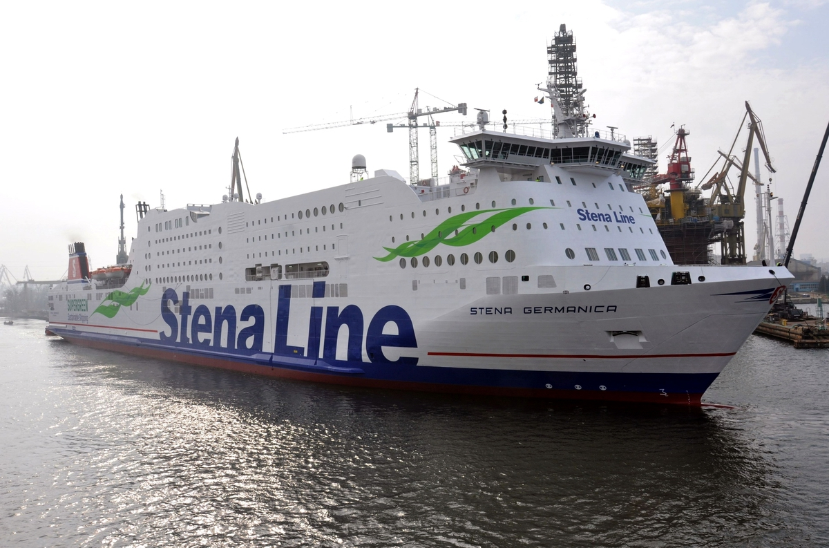 Stena Germanica converted to run on methanol departing from Remontowa SA in March 2015. Photo: Jerzy Uklejewski