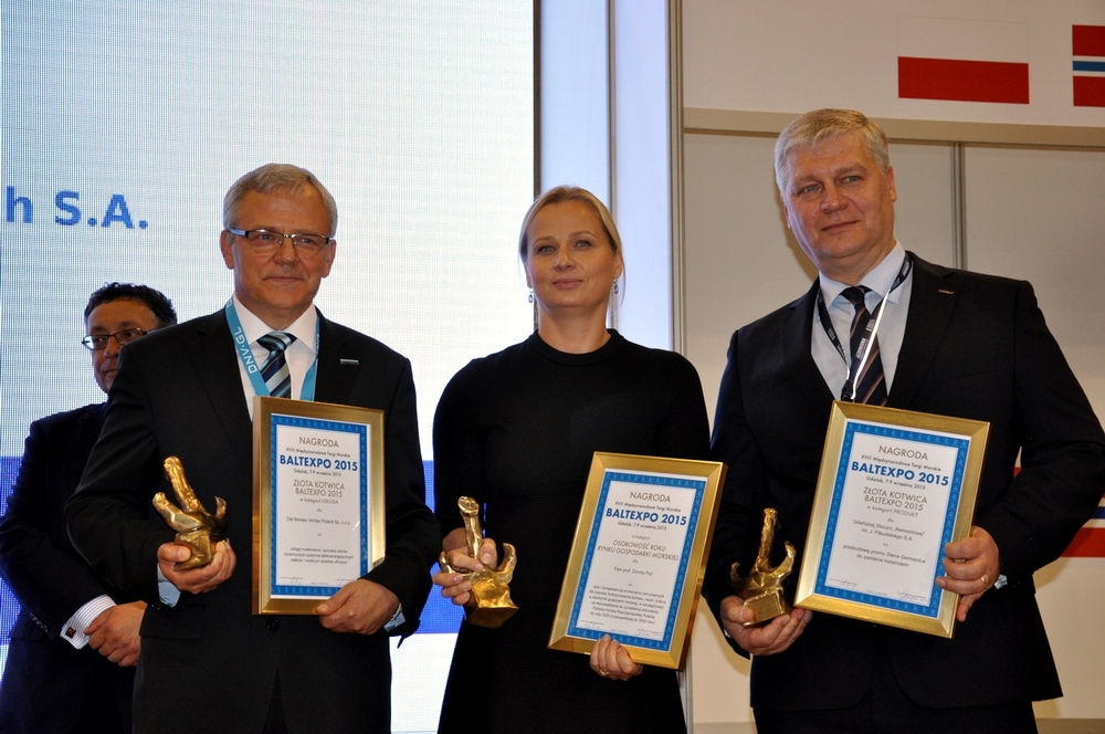 """""""Golden Anchors"""" awarded at the Baltexpo 2015 maritime exhibition"""