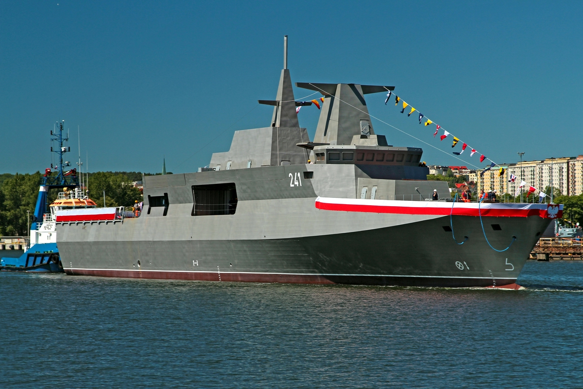 Former corvette re-launched as re-designated OPV