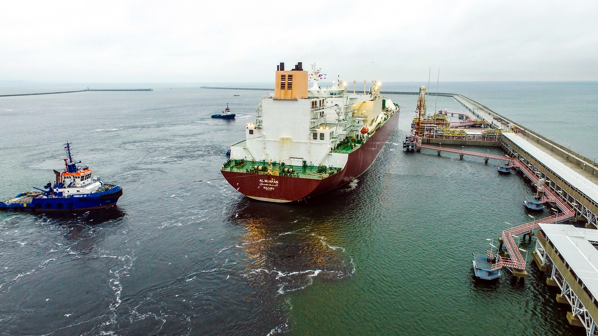 The first delivery of gas to Świnoujście LNG Receiving Terminal