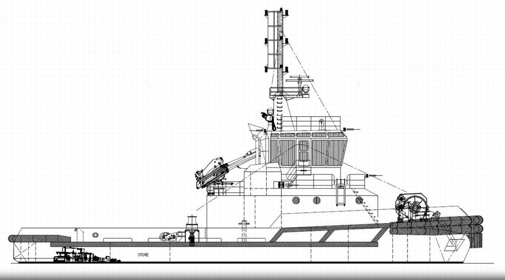 General Arrangement of the Strażak-26 boat.