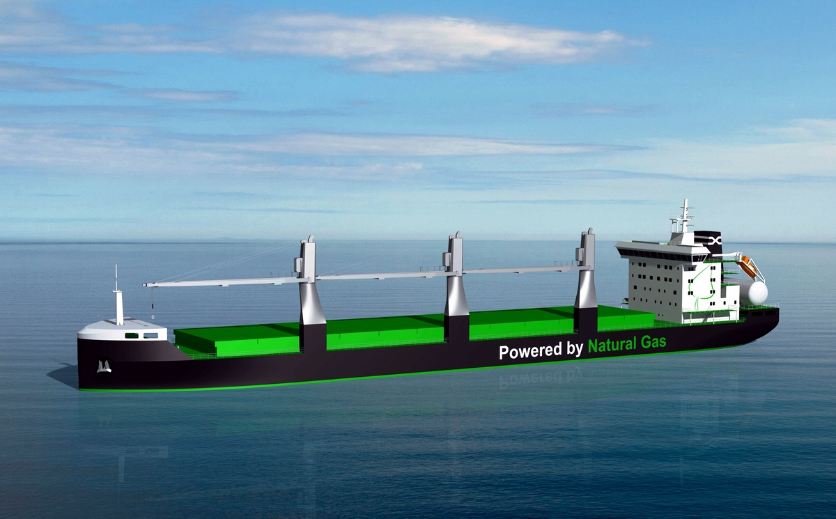 Deltamarin designs the world's first LNG fuelled handysize bulk carriers