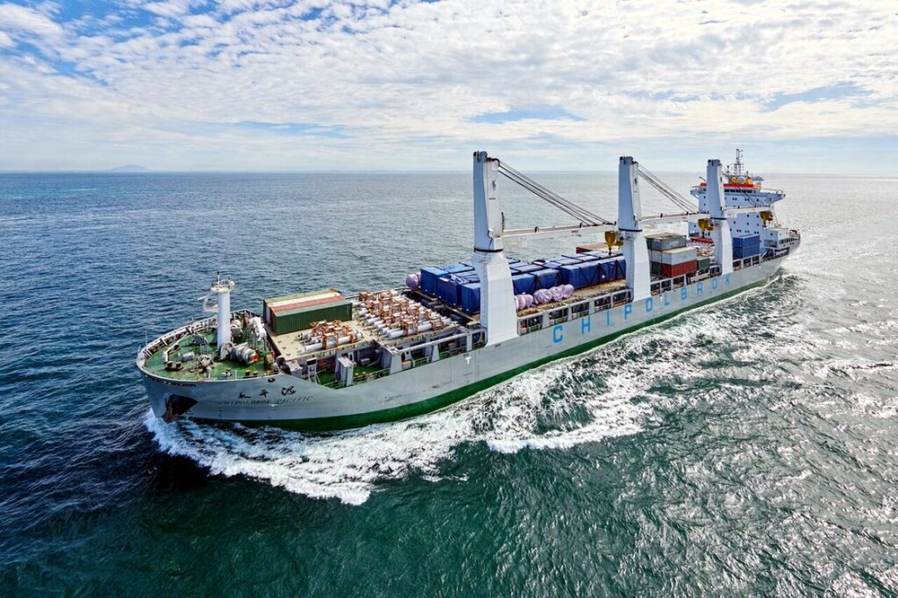 Chipolbrok Pacific project cargo carrier delivered