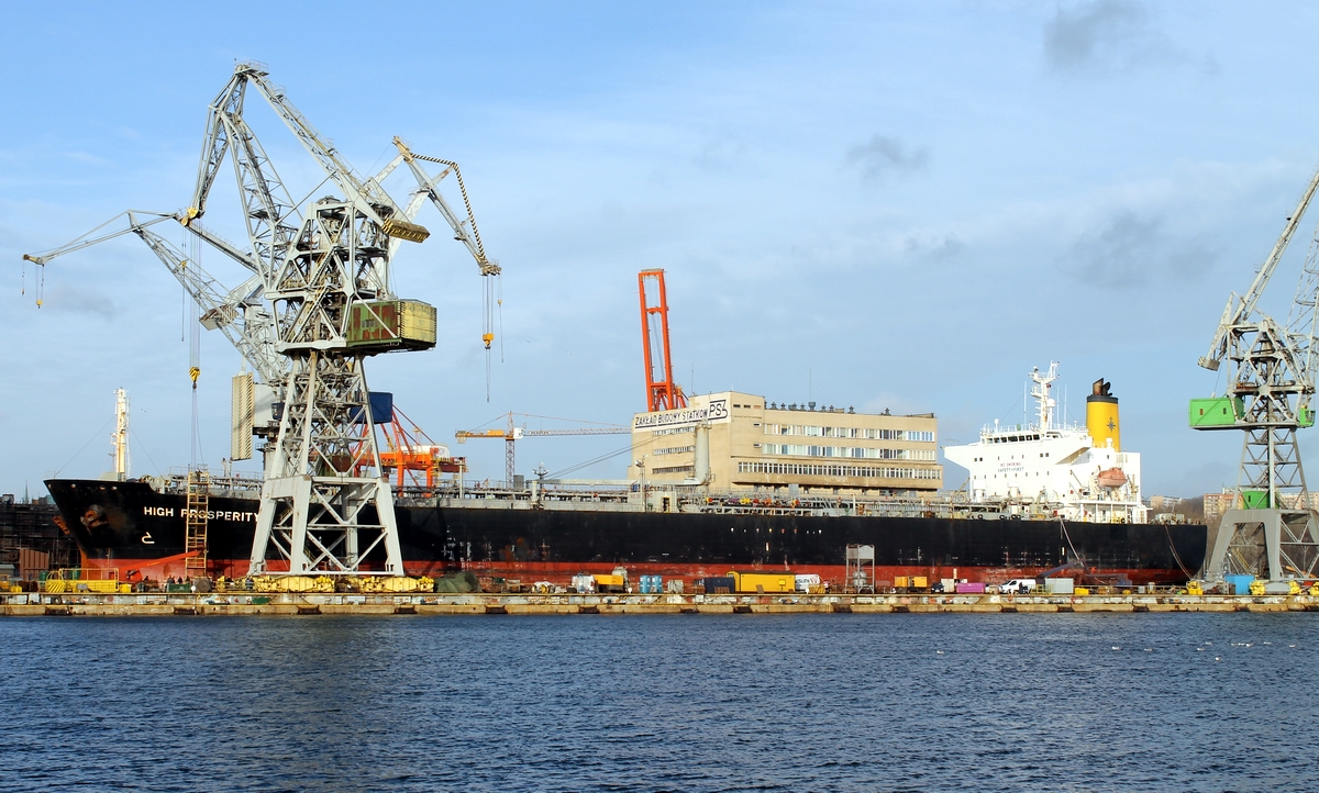 High Prosperity during repairs in the SD I dry dock at Nauta in Gdynia. Photo: J. Staluszka