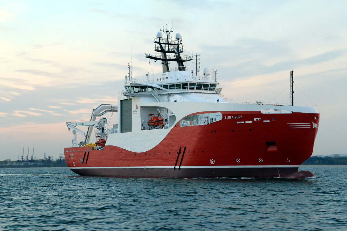 CLV Siem Aimery christened and delivered to Siem Offshore