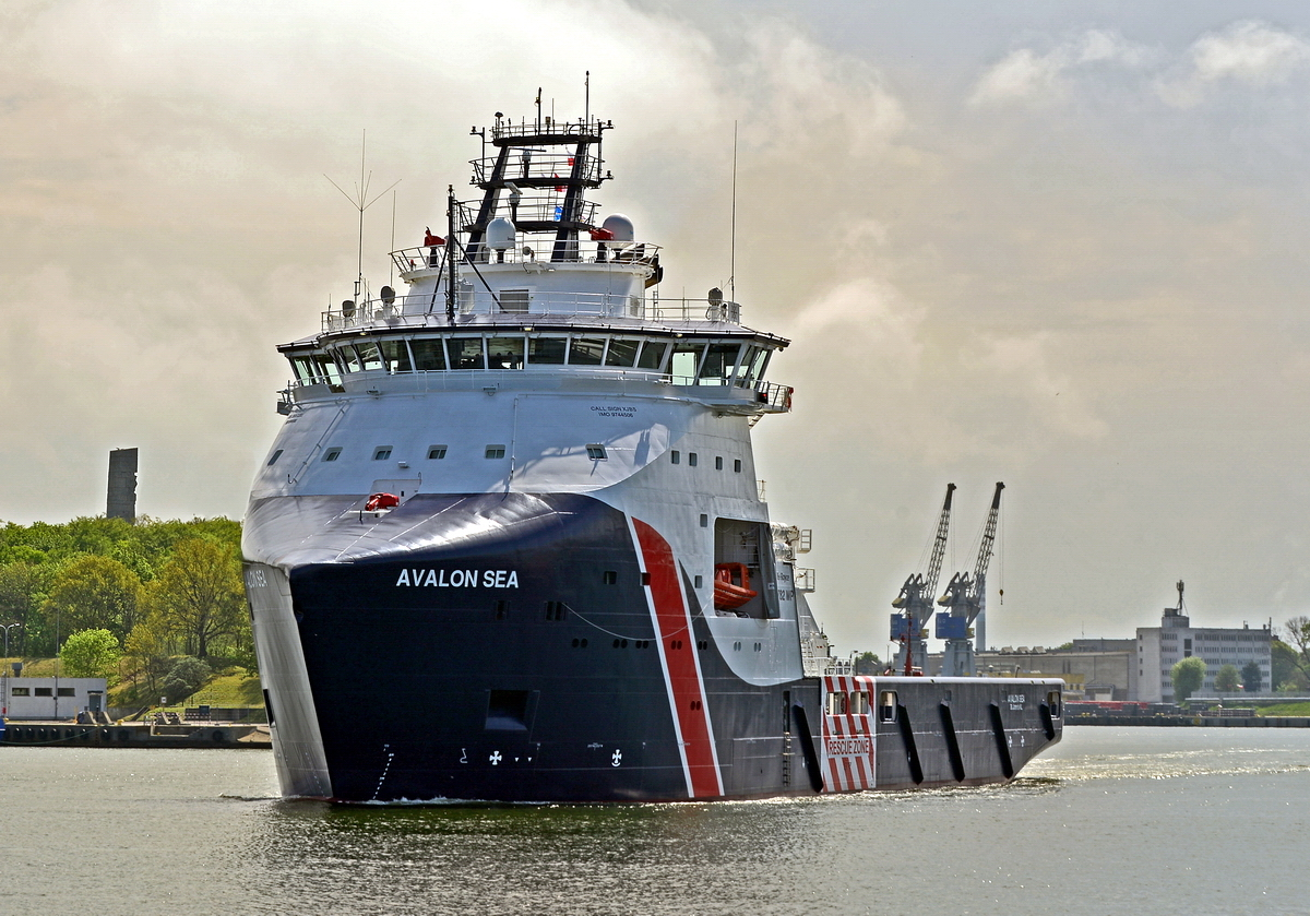 The Avalon Sea departing Gdańsk after its delivery to Secunda Canada. Photo: B. Pięta