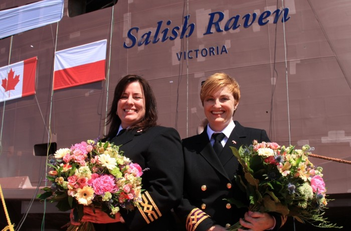 Double naming ceremony for Salish ferries at Remontowa Shipbuilding