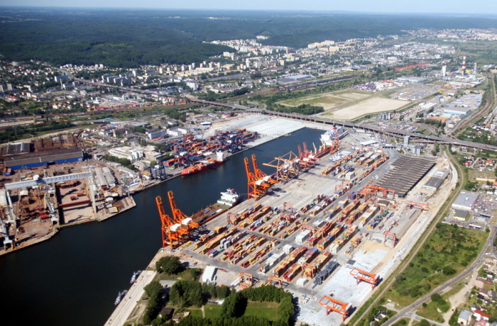 Baltic Container Terminal in the landscape of Gdynia. Photo: Tadeusz Urbaniak/Port of Gdynia
