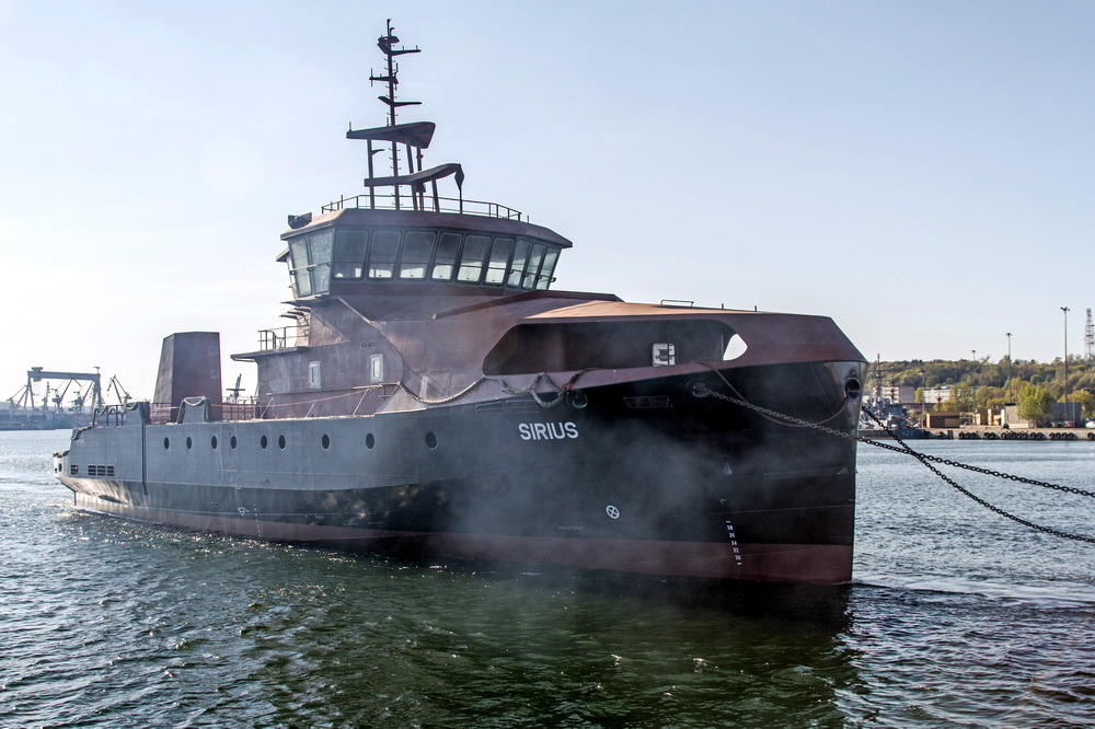 Multi-function vessel hull launched and delivered by Crist