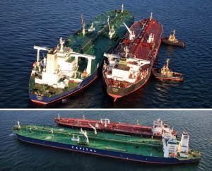 Atlantas and Calida ship-to-ship transfer. Photo: press release