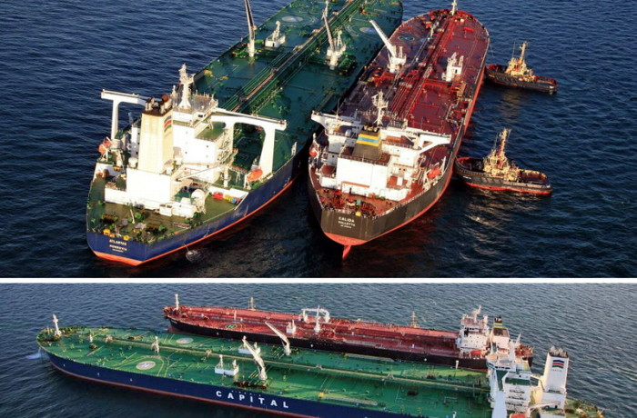 Atlantas and Calida ship-to-ship transfer. Photo: press release