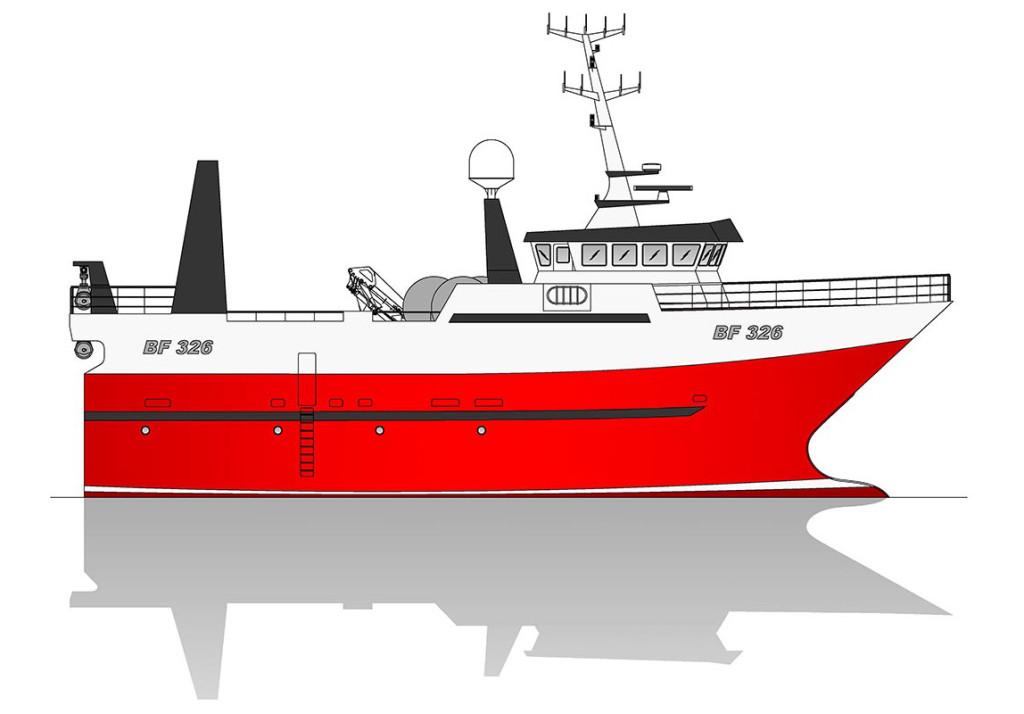 Profile of Macduff yard no. 673 with hull supplied by Finomar, Szczecin.