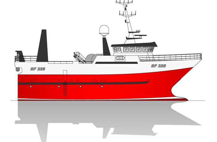 Profile of Macduff yard no. 673 with hull supplied by Finomar, Szczecin.