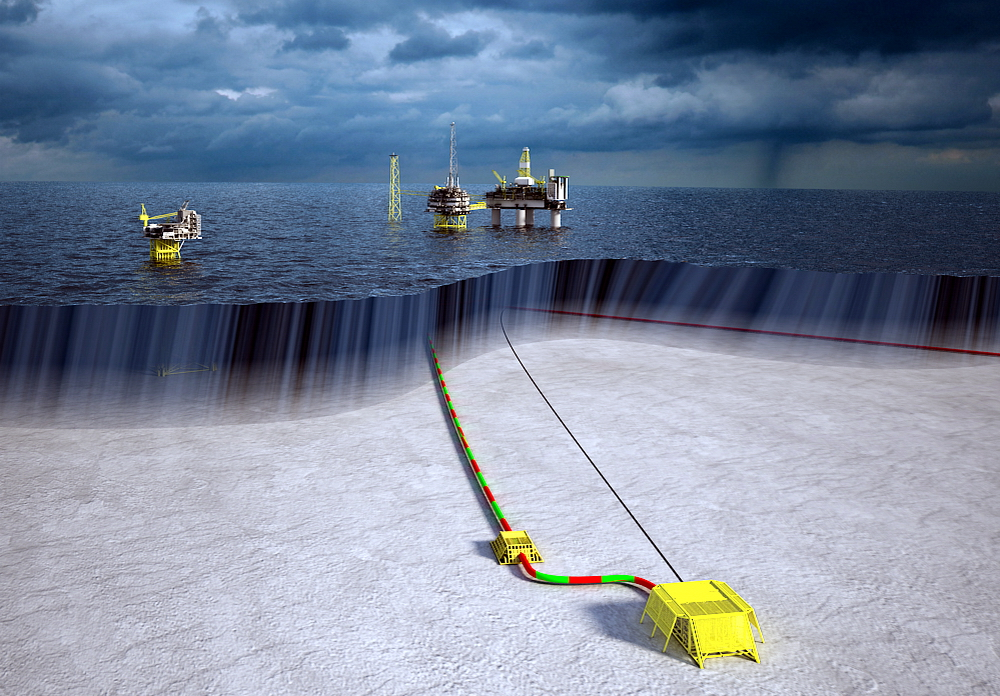 Computer rendering of the Utgard field. Fig.: Statoil