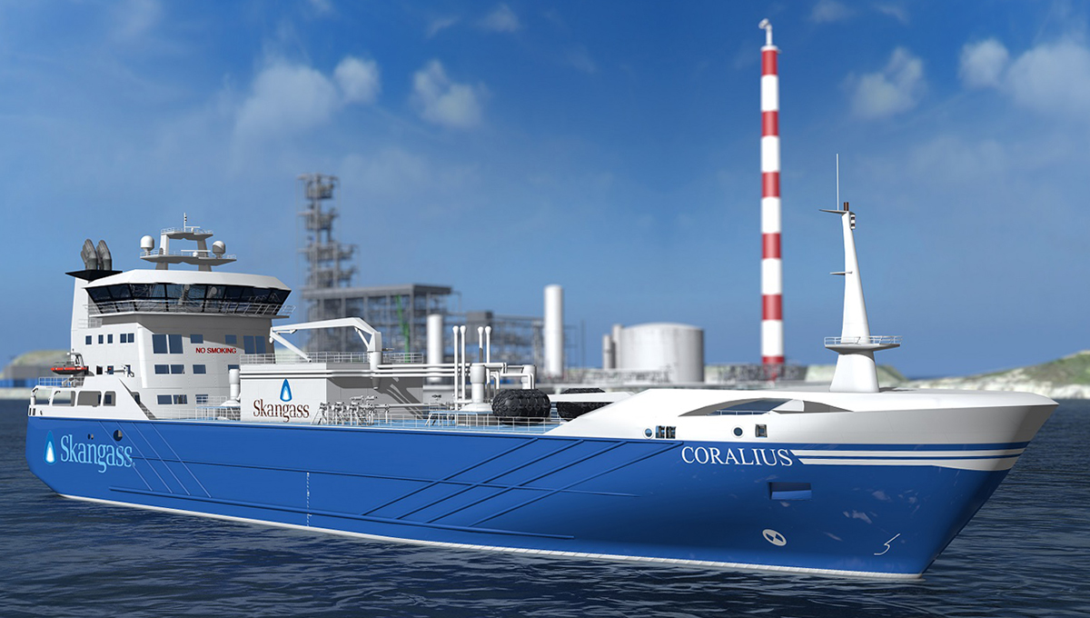 Hull of innovative LNG bunker tanker under construction at Marine Projects