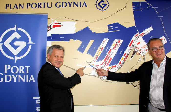 The new cement processing plant will be located in the Port if Gdynia. Photo: Port of Gdynia