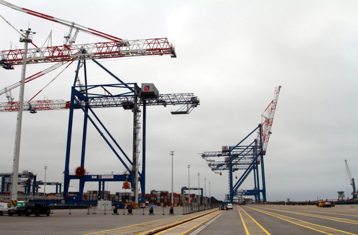 The new berth at Deepwater Container Terminal in Gdansk.