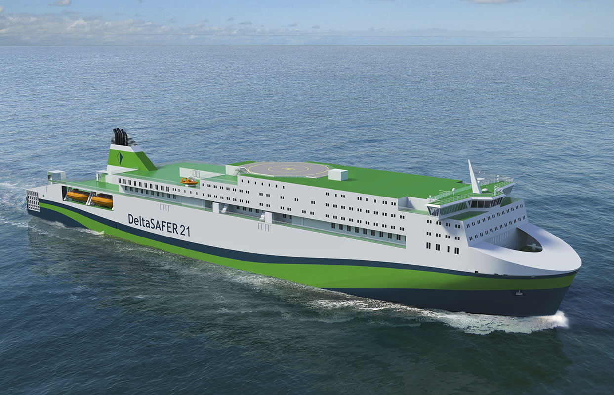 Deltamarin answers Asian ro-pax ferry challenges, Polish design office branch involved