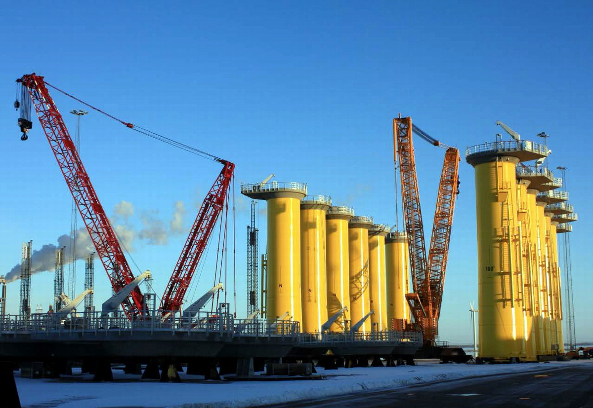 Bladt is one of the market leaders within production of offshore monopile foundations and substations. Photo: Bladt Industries