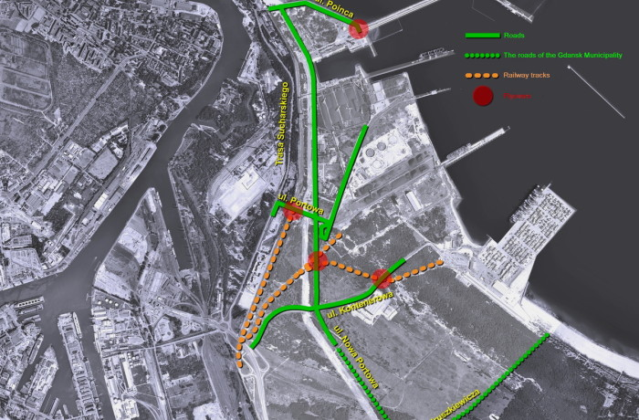The map of new investments at the Port of Gdansk. Source: Port of Gdansk Authority