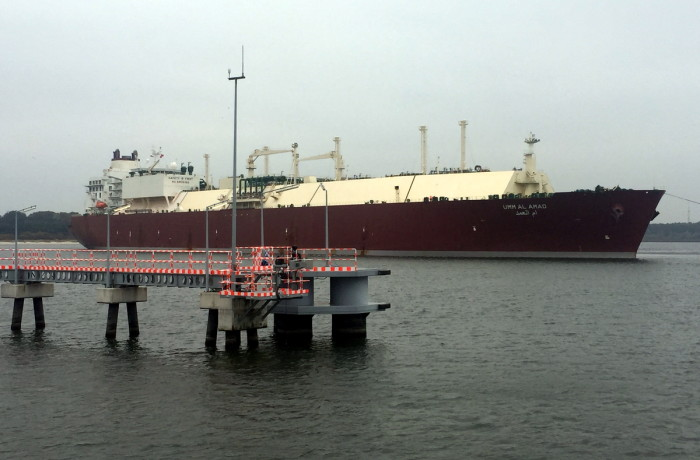 The Umm Al Amad LNG carrier at the LNG Terminal in Świnoujście, Poland. Photo: GAZ-SYSTEM