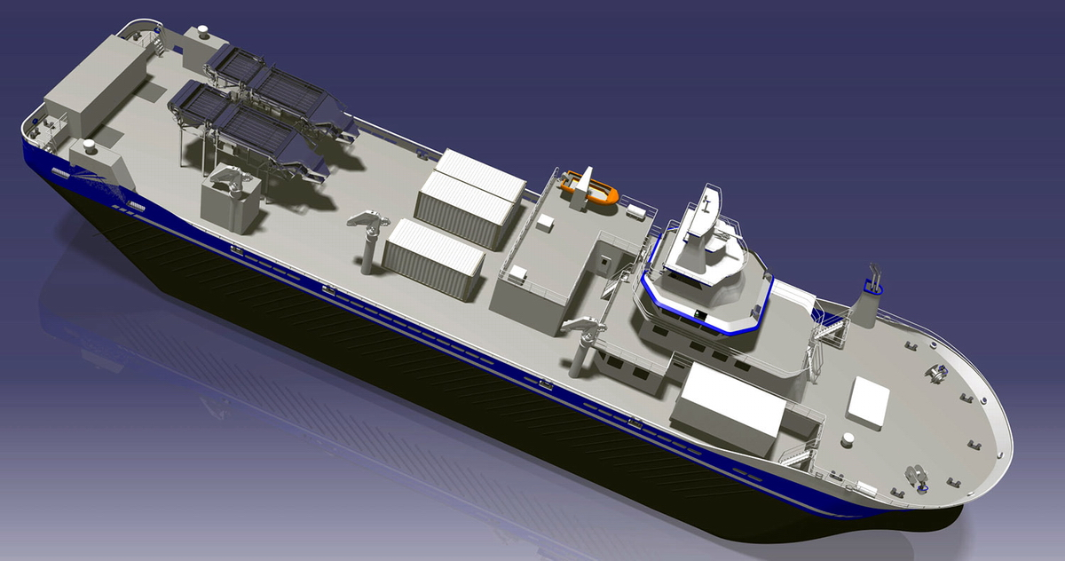 A computer rendering of a new vessel to be built at Crist SA. Illustr.: Courtesy of Crist SA