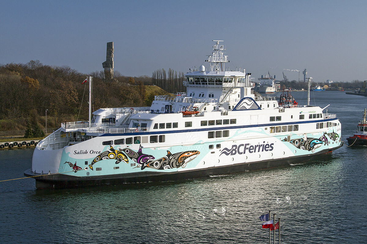First Remontowa Shipbuilding built ferry for Canadian Owners sets sails for British Columbia
