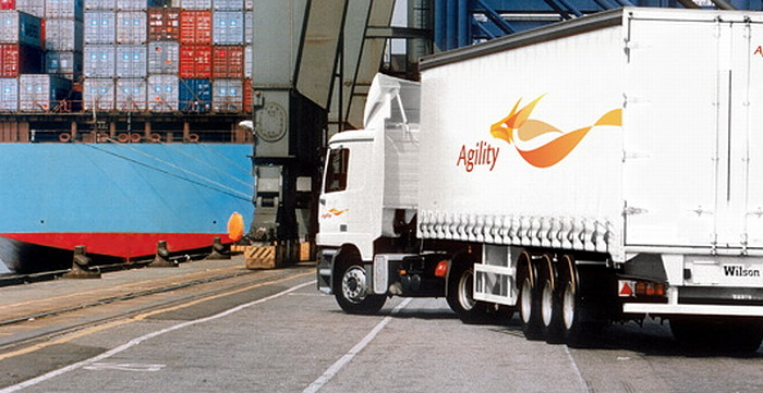 Photo: Agility's road connection network enables delivery of a shipment in Europe within 72 to 96 hours. The lead time in Poland is 24 hours. Photo: Agility