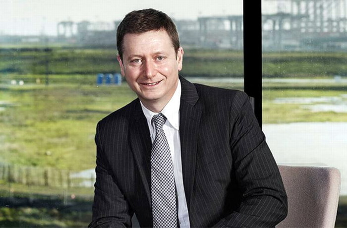 Cameron Thorpe, the new CEO at DCT Gdansk SA. Photo: Twitter/Lloyd's List