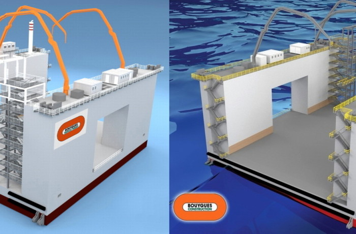 Rendering of the special purpose floating dock Fig.: MS TFI