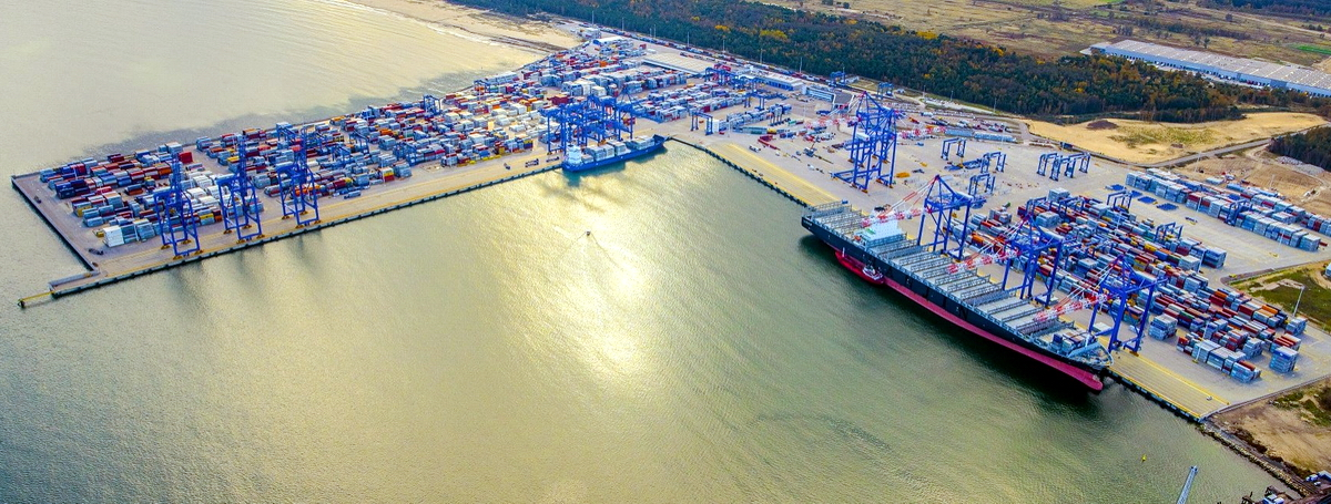 At least 1.27 million TEUs have been handled at Gdansk... Photo: Port of Gdansk
