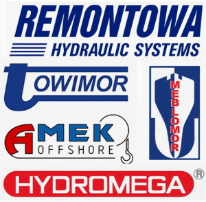 Logotypes of the Consortium of Marine Deck Equipment Manufacturers member companies.