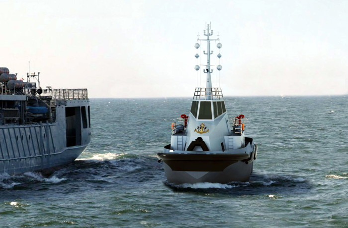 Visualisation of the tug offered by Remontowa Shipbuilding in tender for Polish Navy. Fig.: NED