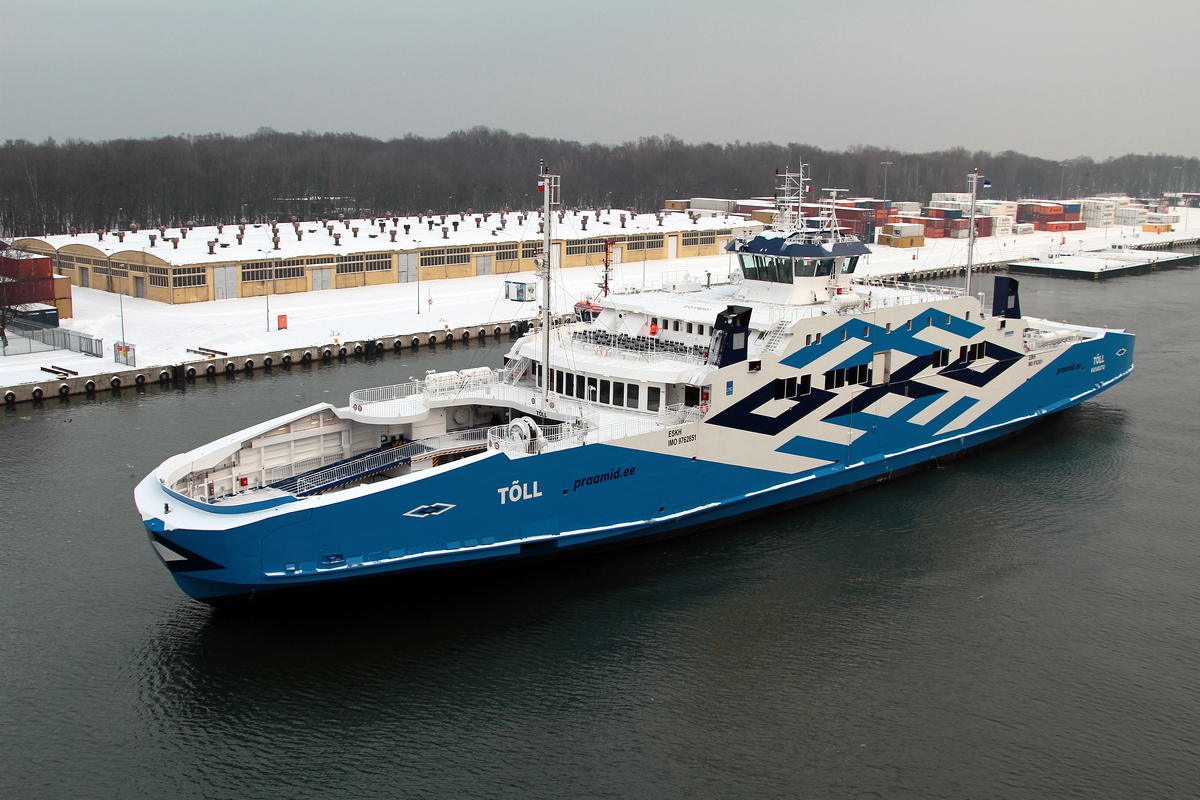 Tõll double-ended ferry arrived in Estonia