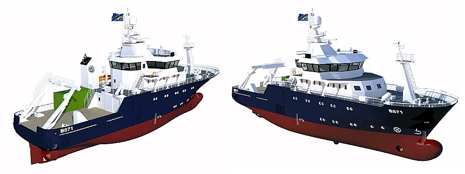 Computer rendering of the new research vessel. Fig.: Nauta