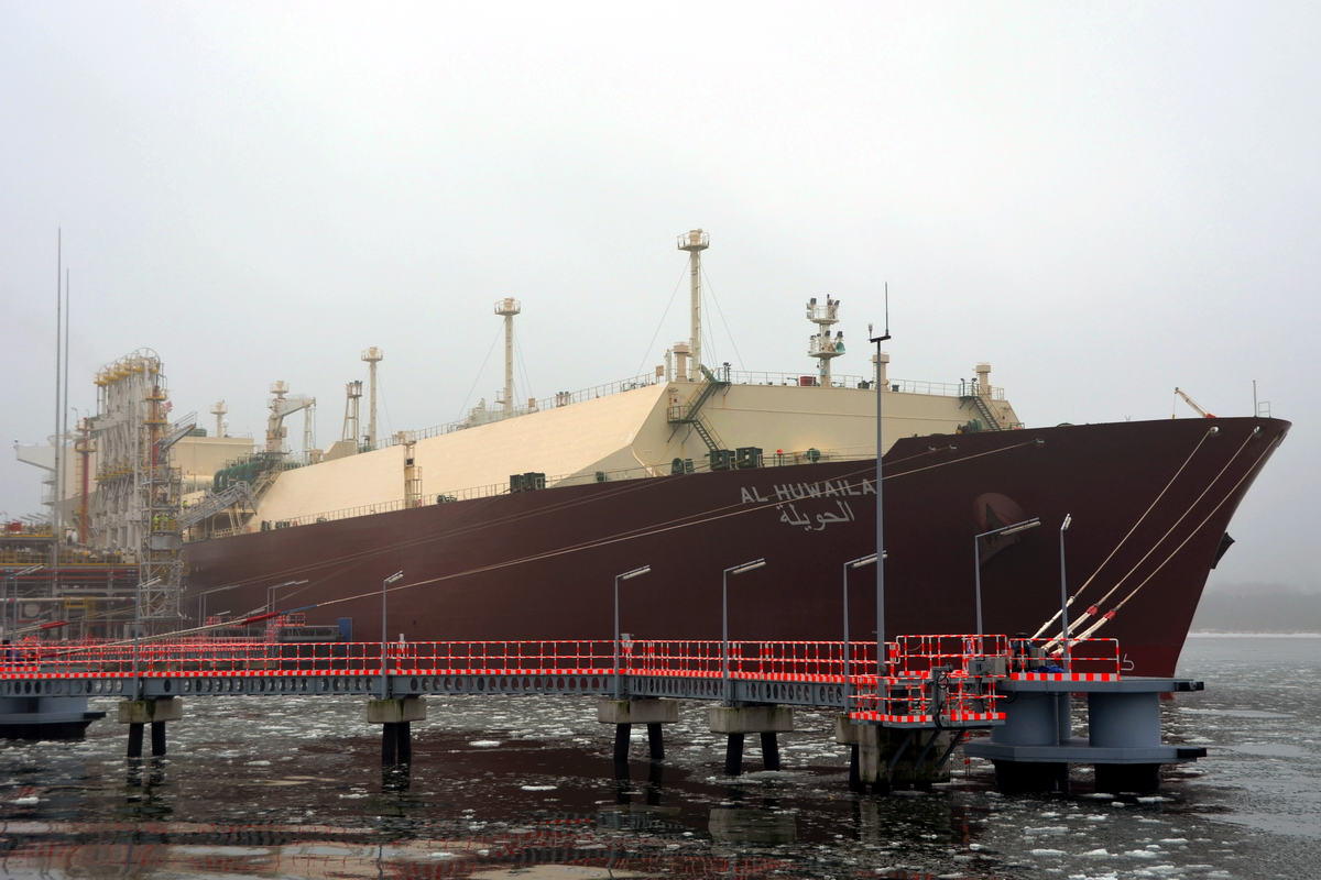 Al Huwaila seen at the Polish LNG Terminal, 21 January 2017. Photo: courtesy of GAZ-SYSTEM SA.