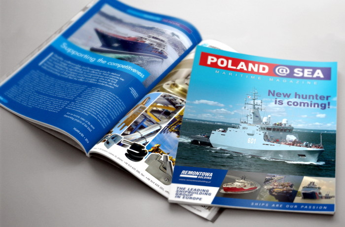 The magazine covers the most interesting and innovative projects executed within the maritime sector in Poland