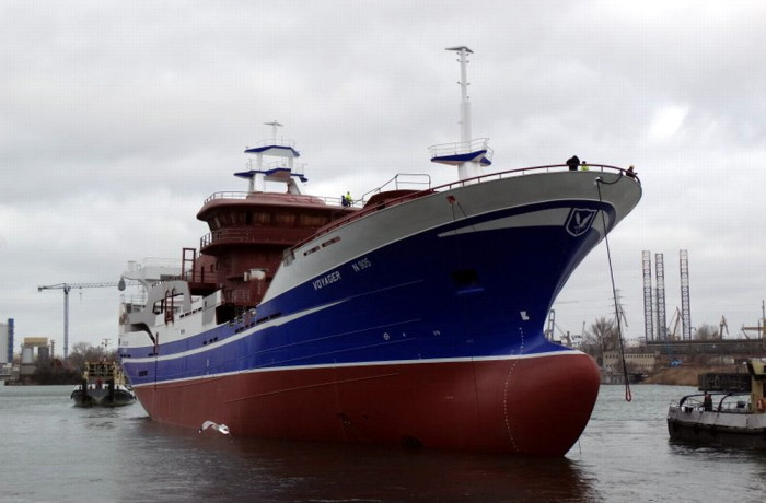 The hull was launched at Nauta in Gdansk on 21 February 2017. Photo: Nauta