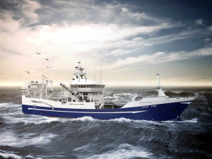 A computer rendering of the Voyager pelagic trawler.