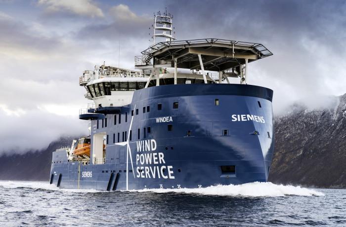 The Windea Leibniz wind farm service vessel. Photo: Ulstein
