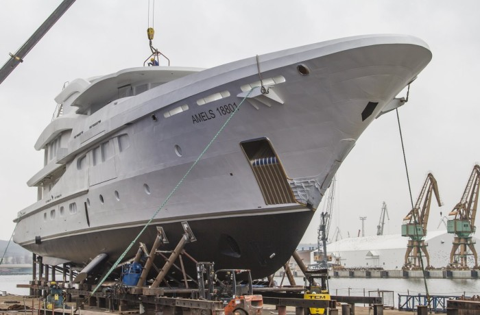 AMELS 18801 under preparations for launching.