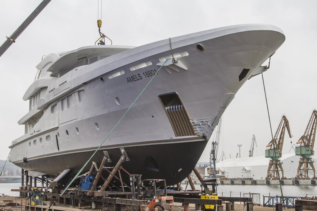 AMELS' first new generation hybrid superyacht mostly built in Poland